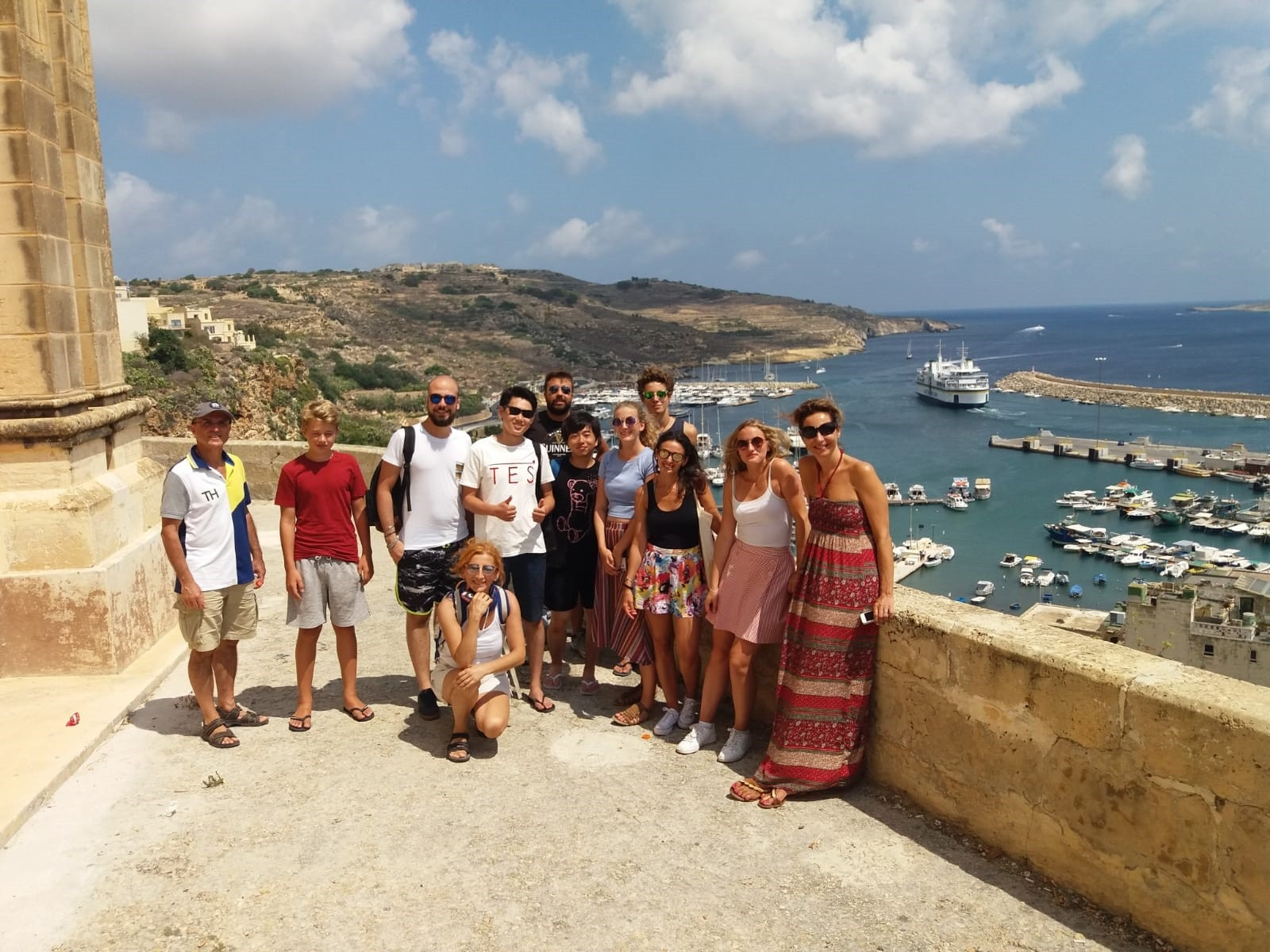 Gateway School of English GSE Gozo and Comino trip - view of the harbour in Gozo
